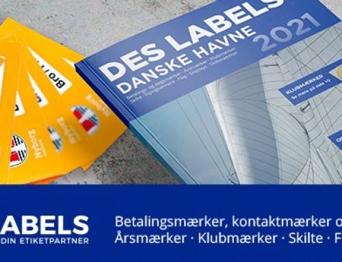 Nyt DES LABELS produktkatalog 2021 til FLID-havnene – alt i skilte, mærker og flag